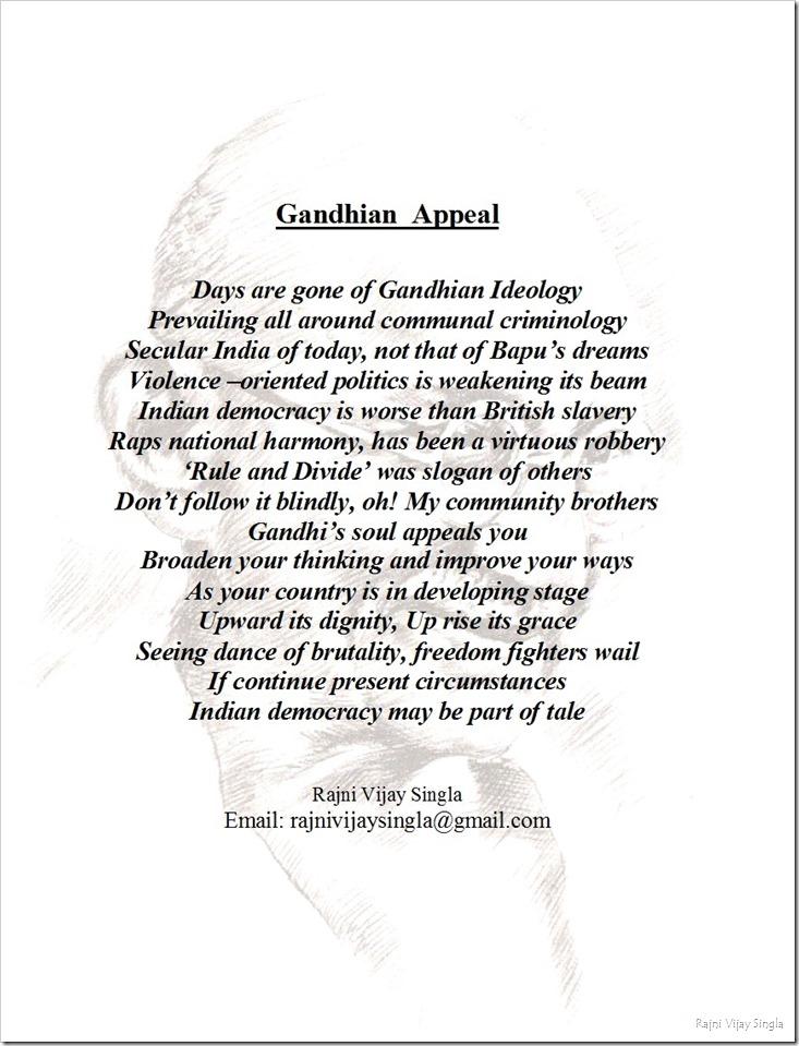gandhian appeal